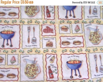 35% Off Sale 1 Yd. BBQ-Barbecue Cotton Fabric