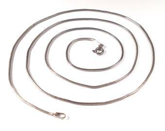 "23"" Italian Sterling Silver Snake Chain -1.5mm"