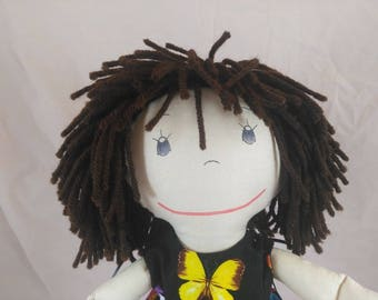 Unique Rag Doll,Brown Hair Rag Doll,Removable Clothes,Rag Doll,Fabric Doll, Stuffed Doll,Plush Doll, Rag Dolls, Original Rag Doll