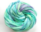 Thick and thin handspun yarn spun in merino wool, super bulky weight, 50 yards 3.1 ounces/ 88 grams