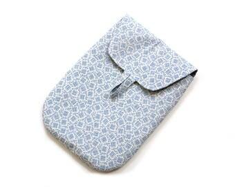 Diaper pouch, blue white, diaper bag, foldover clutch, nappy bag, diaper clutch, diaper case fold over bag, diaper holder, baby gift