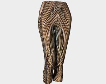 Palm Fronds Fashion Capris