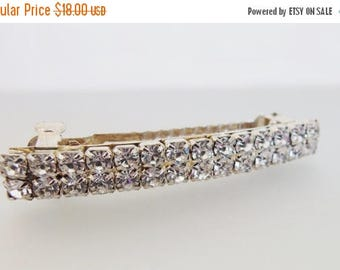 ON SALE Lovely Vintage Clear Rhinestone Hair Clip