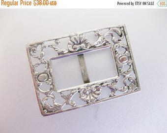 ON SALE Vintage Italian G Vivaldi 800 Silver Buckle