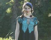 Mesh Work Dress / Sun Dress / Gypsy Dress / Summer Dress / Boho Dress / Beach Dress / Cut Work Dress / Indonesian Dress