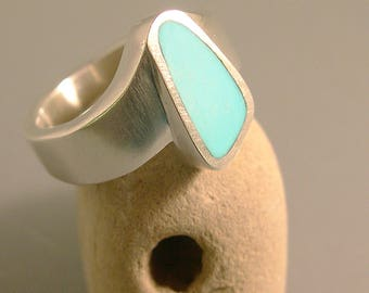 Sleeping Beauty Turquoise Ring Sterling Silver