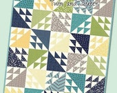 SALE Tail Feathers Quilt Pattern - Multiple Sizes Quilt Pattern - Modern Quilt Pattern - It's Sew Emma ISE 173