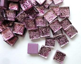 Mini Antiqued Lavender Purple Foil Backed Mosaic Tiles//Mosaics//Mosaic Supplies//Craft Supplies