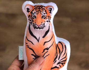 Baby Boy Valentines Gift Idea, Tiger Plush Toy, Baby Shower Gift, Toddlers Wild Animal Toys, Jungle, Zoo oder Safari Nursery Decor