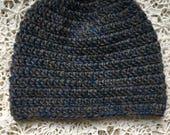 Blue & Brown Wool Beanie