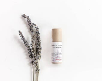 Lavender Spearmint Lip Balm Natural Therapeutic Shea Butter Healing Therapy Recycle Paper Tube
