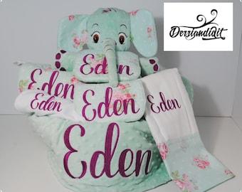 Personalized gift etsy custom baby gift basket personalized gifts baby shower gift customized embroidery customized negle Gallery