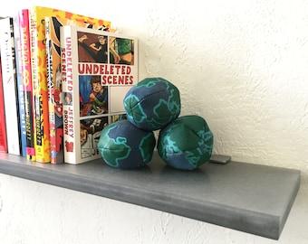 Floating Silver Translucent Resin Shelf with Shelf Supports, Modern Floating Shelf, Display Shelf, Bookshelf