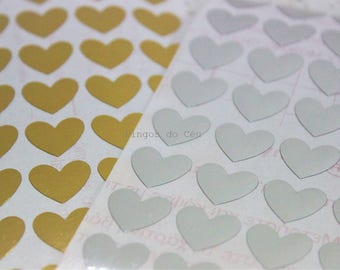 90 pcs - Mini Heart Stickers - Planner Stickers - Valentines Day Stickers - Wedding Sticker - Envelope Seal - 0.50'' - Made to Order