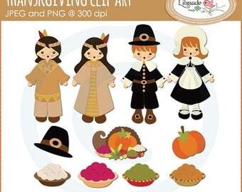 65%OFF SALE Thanksgiving clip art, pilgrim clip art, Native American clip art, pumpkin clip art, pilgrim hat clip art C87