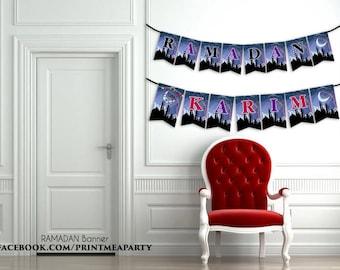 Ramadan decorations,printable Ramadan banner, Ramadan decor banner, Eid