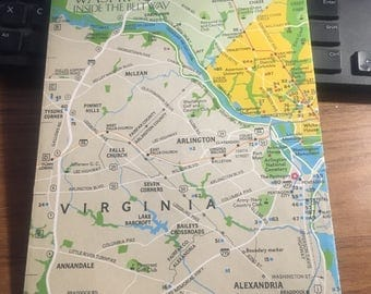 National Geographic 1983 Washington DC inside the beltway map.