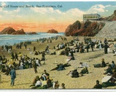 Cliff House Beach Scene San Francisco California 1910s postcard