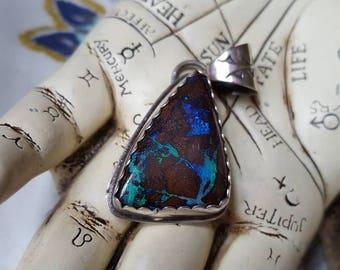 Sterling Silver Australian Boulder Opal Pendant