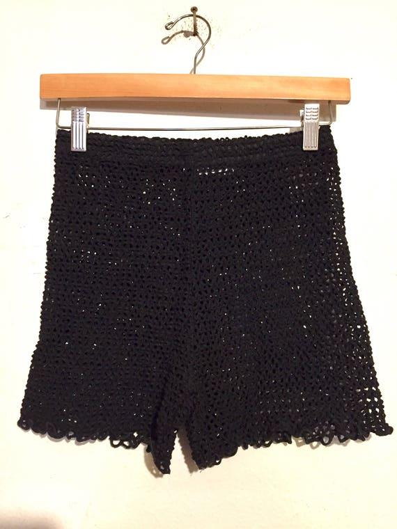 90s Vintage Crochet Shorts