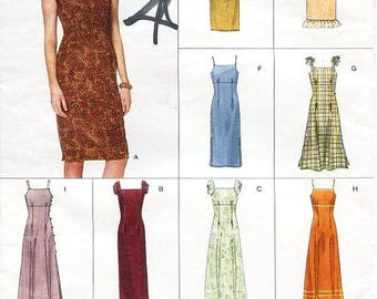 On Sale Vogue Dress Pattern 2144 - Misses' Close-Fitting Empire Dress in Eight Variations - Vogue Easy Options - Sz 8/10/12
