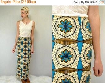 sale 25% off - Hawaiian Skirt  //  70s Maxi Skirt  //  Boho Maxi Skirt  // THE PSYCHE