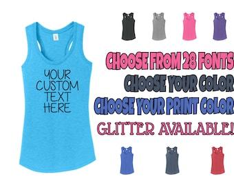 Custom Tank Top, Custom Shirt, Custom Text Tank Top