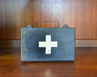 vintage MSA first aid kit / vintage medical supplies / midcentury medical