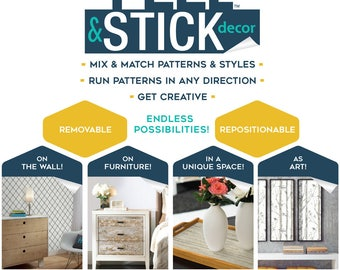 Stuccoed Brown Brick Peel and Stick Decor