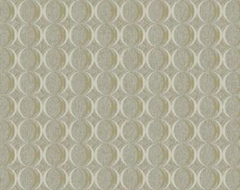 RC3752 Taupe Metallic Gold Circles Contemporary Geometric Wallpaper -Yard