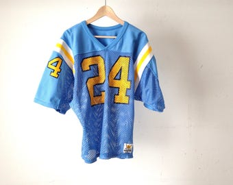 vintage LOS ANGELES RAMS jersey mesh shirt number 24 vintage 80s football jersey top shirt