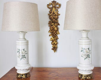 Pair of Magnolia Lamps