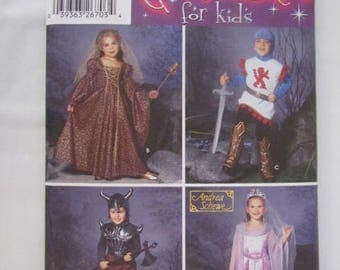 New Uncut Pattern Medieval Renaissance Warrior Princess Costumes Child Size 3-8 Simplicity -5520- FREE SHIPPING USA