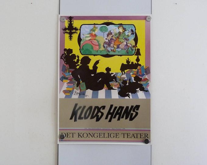 Bjorn Wiinblad Poster Klods Hans, ( Jack the Dullard)