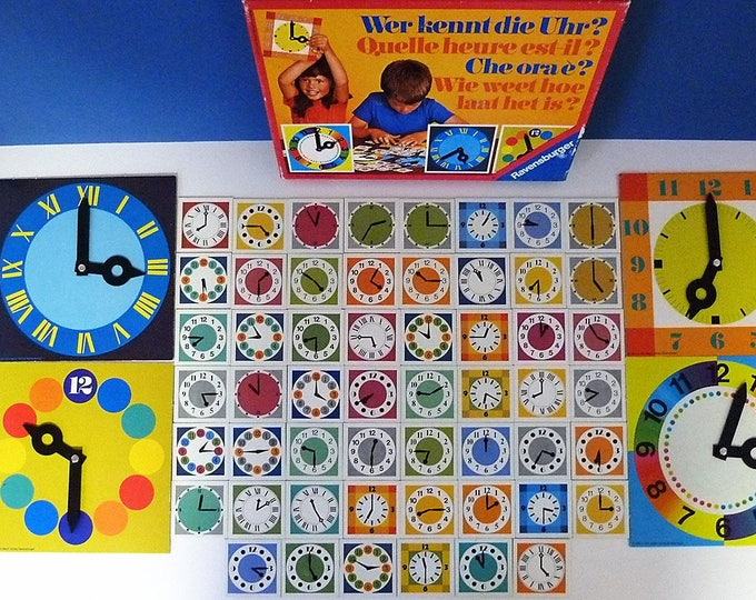 Tell The Time Ravensburger 1977 Clock Game