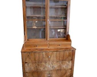 ON SALE Late 1800s Biedermeier Cabinet from Switzerland, Completely Restored