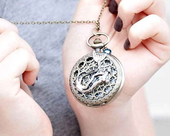 Mermaid Pocket Watch Necklace