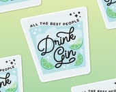 Gin and Tonic Stickers, Gin Sayings, Laptop Sticker, Bullet Journal Sticker, Gin Quotes, Gin Glass Sticker, Gin Gift, Gin Lovers Gift,