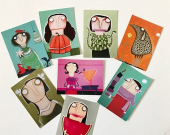8 Art postcards postcard