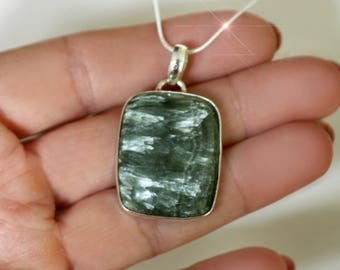 Angel  - Seraphinite Sterling Silver Necklace
