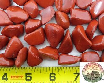 Tumbled Red Jasper gemstones
