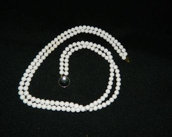 Milk White Bead Necklace