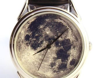 ON SALE 25% OFF Watch Moon photo, unisex watch, women watch, men wrist watch