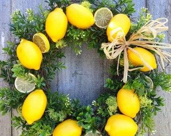 "Lemon fresh wreath 16"""