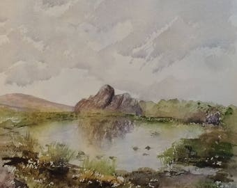 Doxey's Pool ,The Roaches Giclee print from the Original watercolour painting framed or unframed