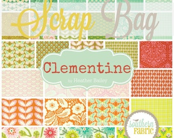 Clementine - Scrap Bag Quilt Fabric Strips by Heather Bailey for Free Spirit