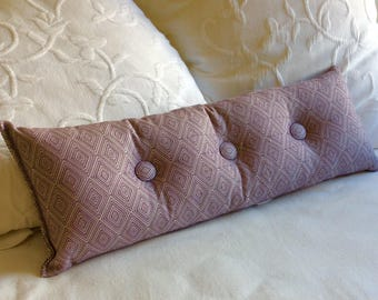 amethyst 9x25 Bolster/lumbar pillow available in many of our fabrics