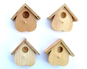 Birdhouse, Miniature Birdhouse, Wood Birdhouse, Fairy Garden