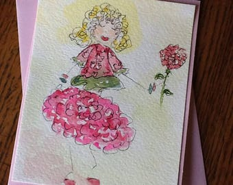 Kate's Look Watercolor Gift or Note Card