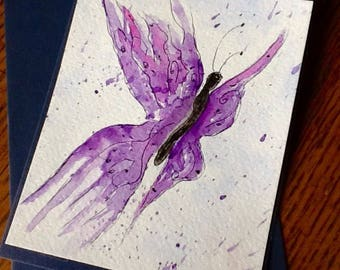 Butterfly Watercolor Gift or Note Card